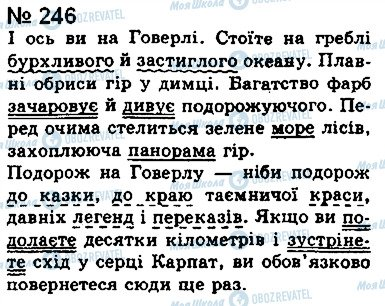 ГДЗ Укр мова 8 класс страница 246