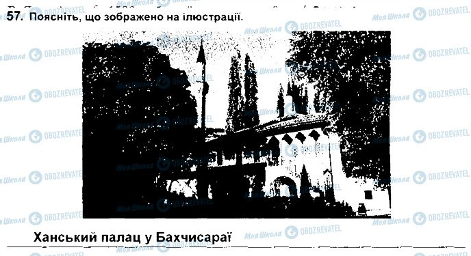 ГДЗ Історія України 8 клас сторінка 57