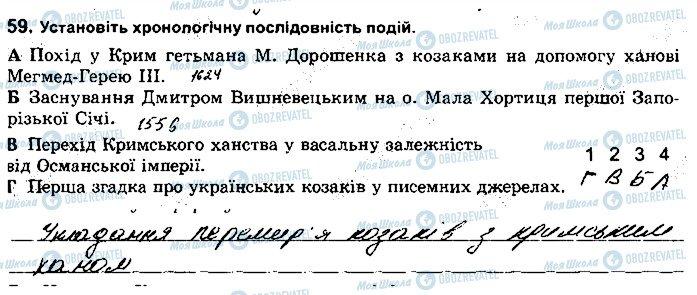 ГДЗ История Украины 8 класс страница 59