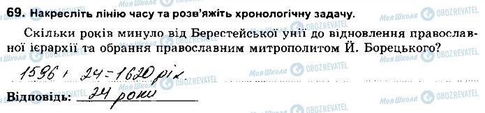 ГДЗ История Украины 8 класс страница 69