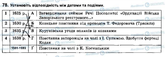 ГДЗ Історія України 8 клас сторінка 78
