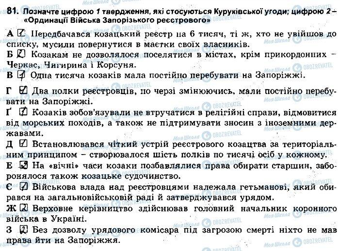 ГДЗ Історія України 8 клас сторінка 81