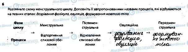 ГДЗ Біологія 8 клас сторінка 6