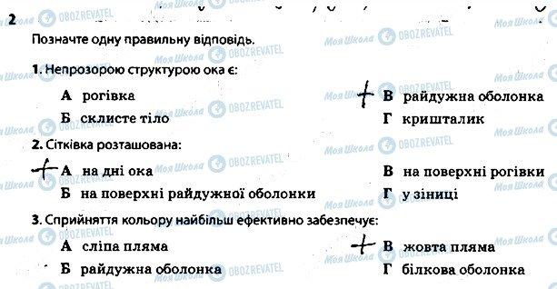 ГДЗ Биология 8 класс страница 2