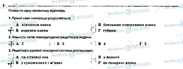 ГДЗ Биология 8 класс страница 1