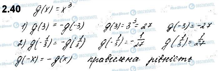 ГДЗ Алгебра 10 класс страница 40