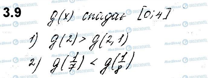 ГДЗ Алгебра 10 клас сторінка 9