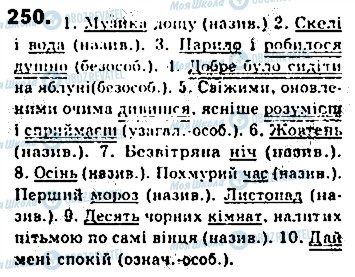 ГДЗ Укр мова 8 класс страница 250