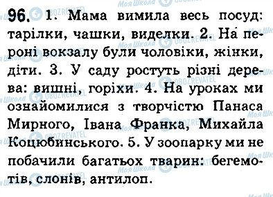 ГДЗ Укр мова 5 класс страница 96