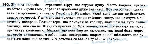 ГДЗ Українська мова 9 клас сторінка 140