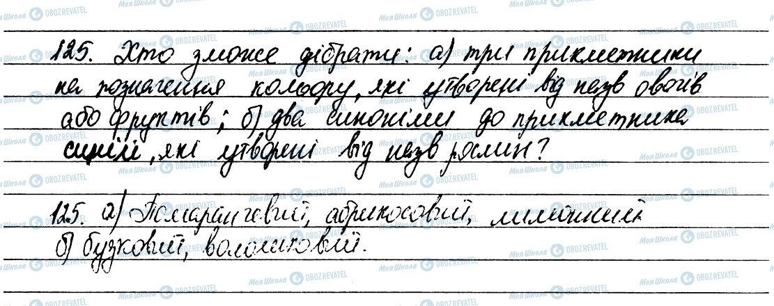 ГДЗ Українська мова 6 клас сторінка 125