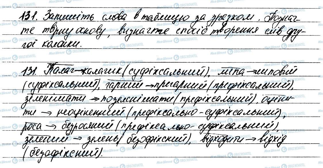 ГДЗ Укр мова 6 класс страница 131