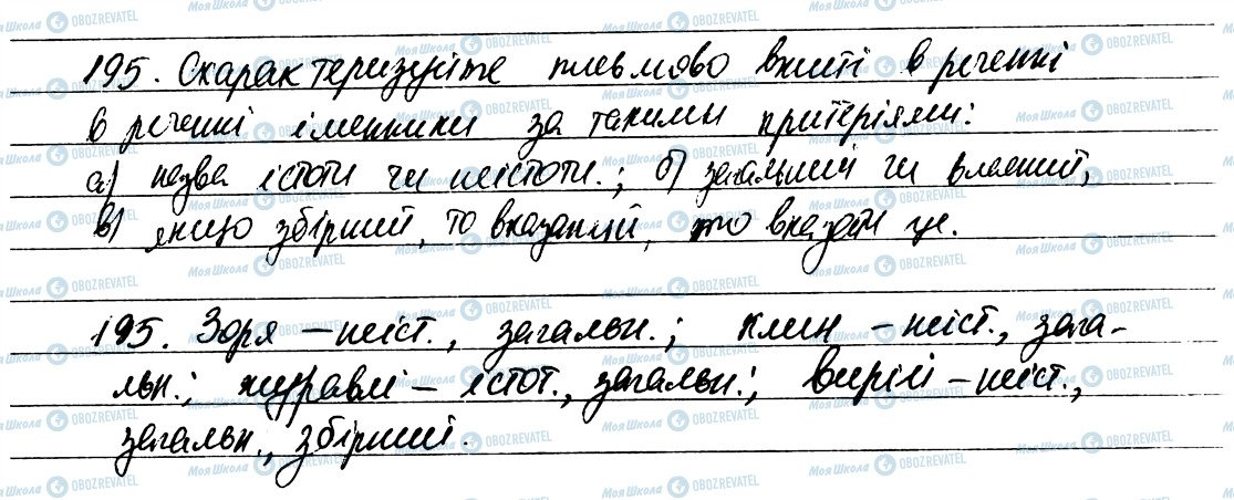 ГДЗ Українська мова 6 клас сторінка 195