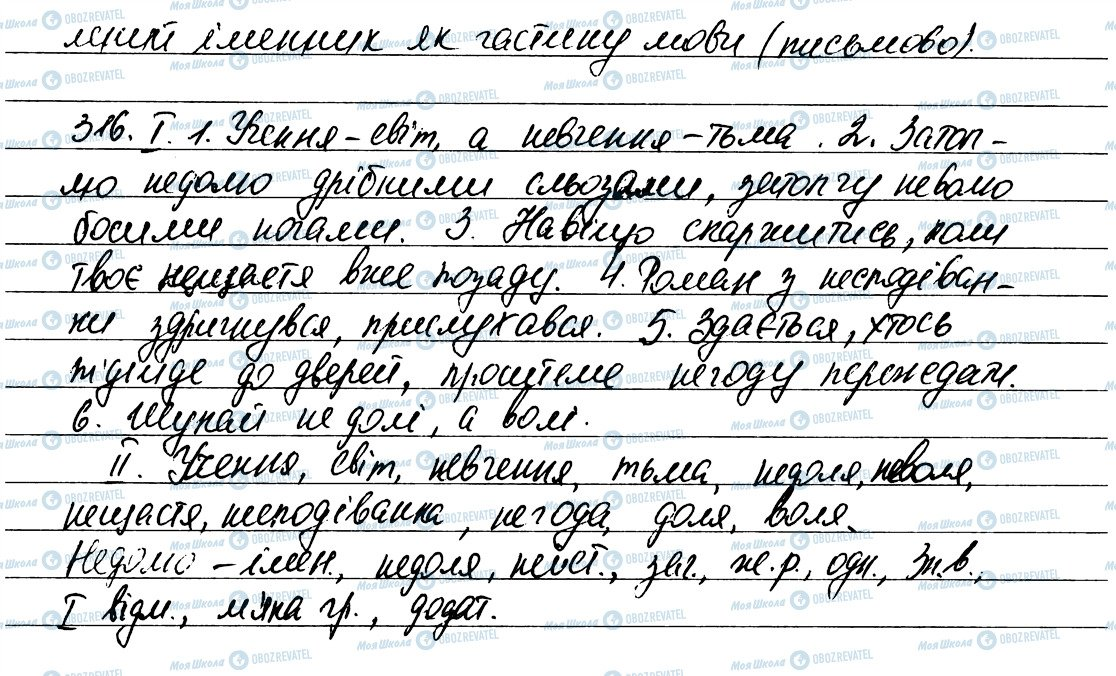 ГДЗ Укр мова 6 класс страница 316