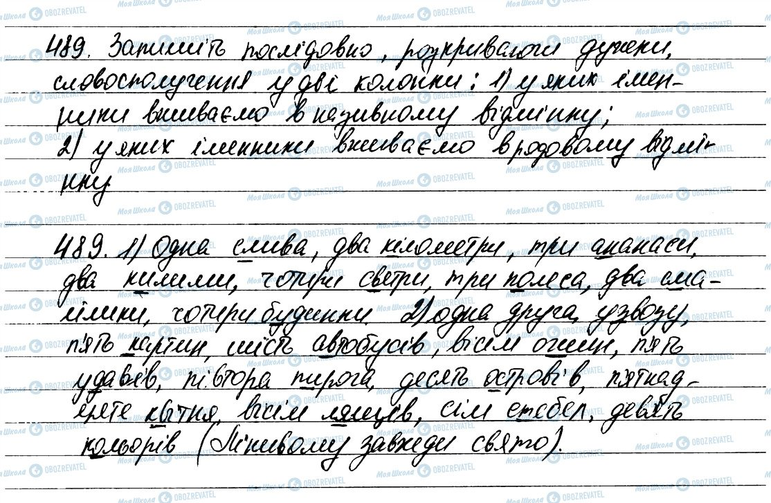 ГДЗ Українська мова 6 клас сторінка 489