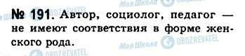 ГДЗ Російська мова 10 клас сторінка 191