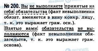 ГДЗ Русский язык 10 класс страница 200
