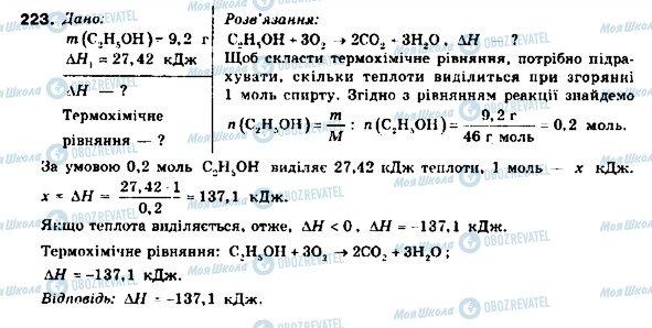 ГДЗ Хімія 9 клас сторінка 223