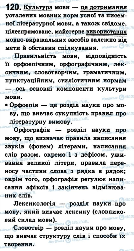 ГДЗ Укр мова 8 класс страница 120