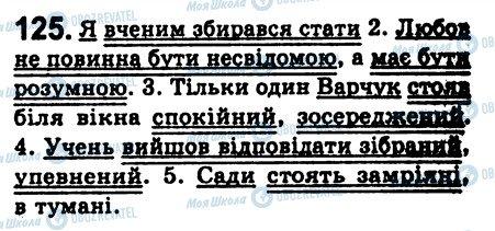 ГДЗ Укр мова 8 класс страница 125