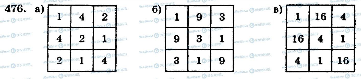 ГДЗ Математика 5 класс страница 476