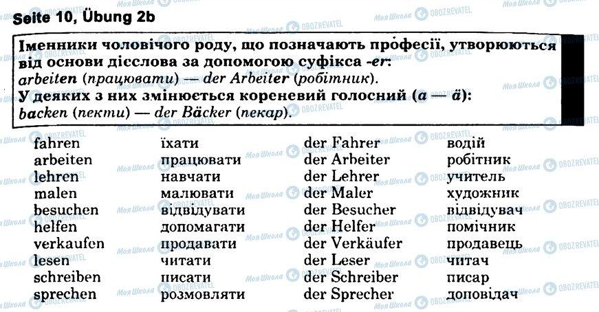 ГДЗ Немецкий язык 6 класс страница s10u2(b)