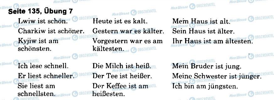 ГДЗ Немецкий язык 6 класс страница s135u7