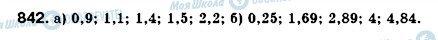 ГДЗ Алгебра 8 клас сторінка 842