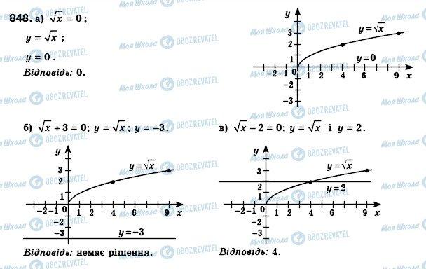 ГДЗ Алгебра 8 клас сторінка 848