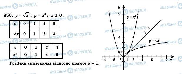 ГДЗ Алгебра 8 клас сторінка 850