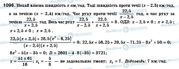 ГДЗ Алгебра 8 клас сторінка 1096