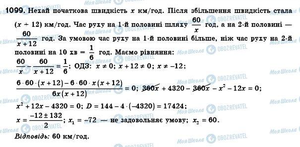ГДЗ Алгебра 8 клас сторінка 1099