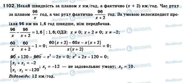 ГДЗ Алгебра 8 клас сторінка 1102