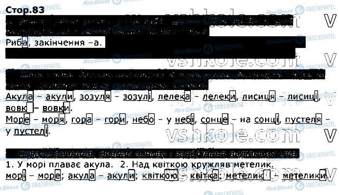 ГДЗ Українська мова 2 клас сторінка стор83