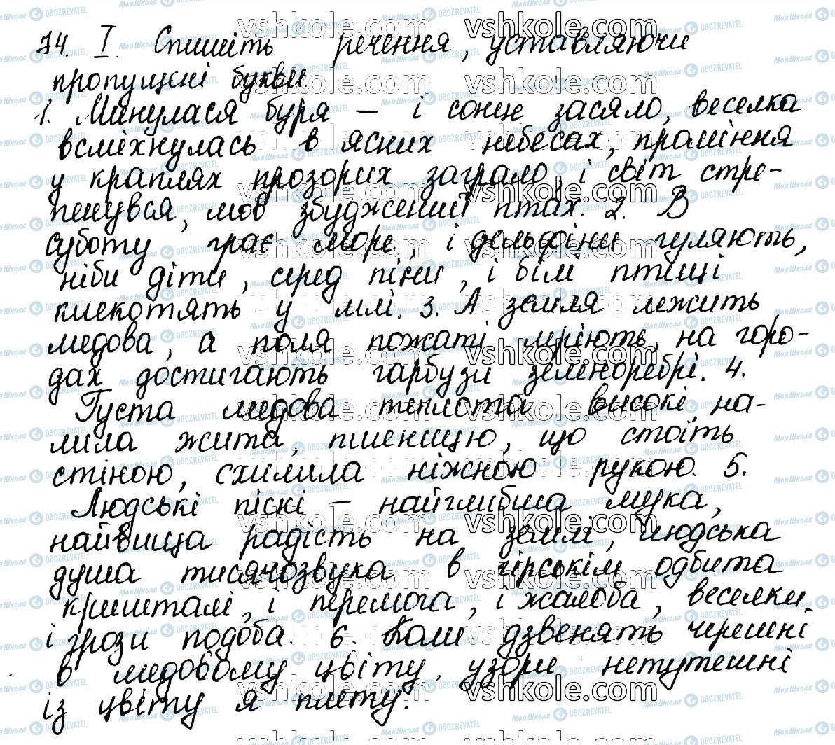 ГДЗ Українська мова 10 клас сторінка 74