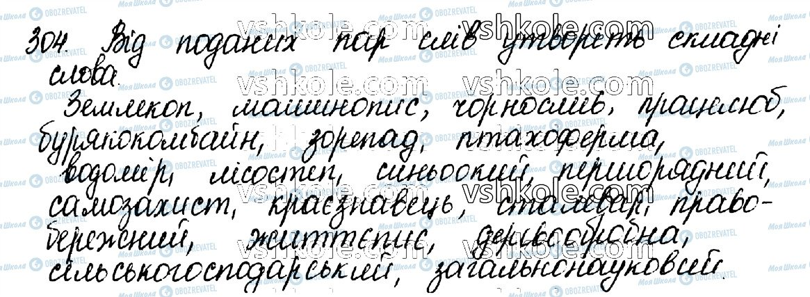 ГДЗ Укр мова 10 класс страница 304