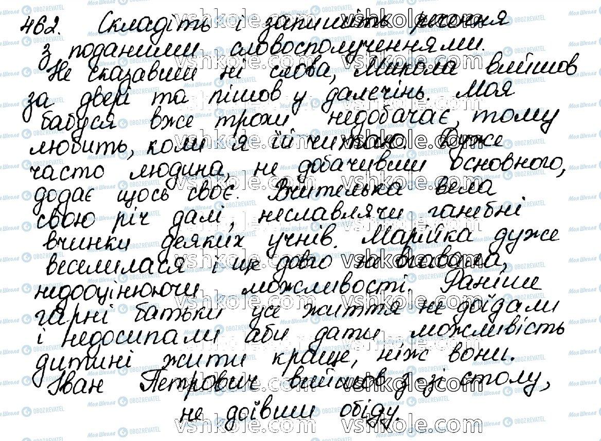 ГДЗ Українська мова 10 клас сторінка 462