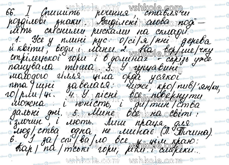 ГДЗ Укр мова 10 класс страница 66