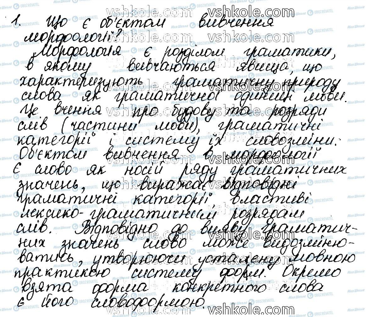 ГДЗ Укр мова 10 класс страница 1