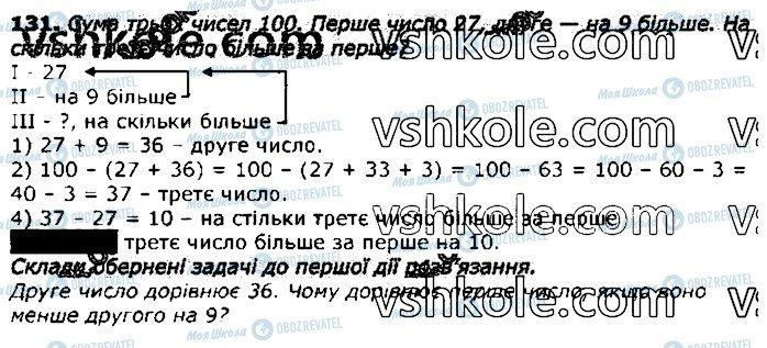 ГДЗ Математика 3 клас сторінка 131