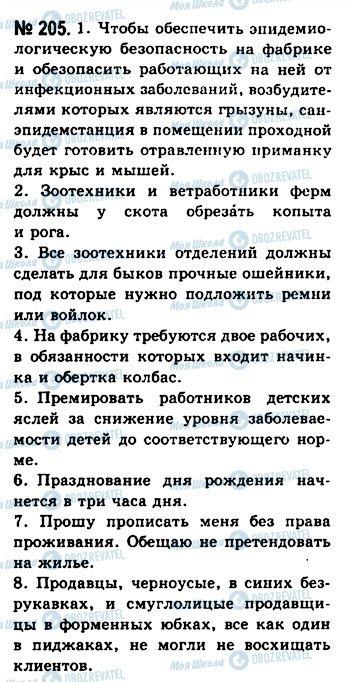 ГДЗ Русский язык 10 класс страница 205