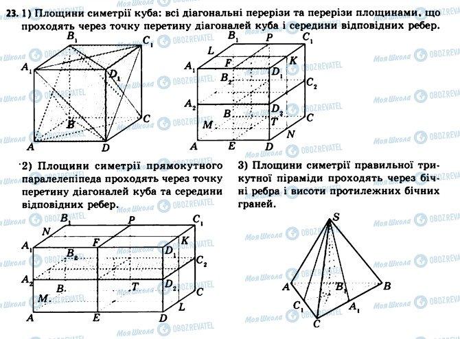 ГДЗ Геометрія 11 клас сторінка 23