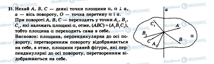 ГДЗ Геометрія 11 клас сторінка 31