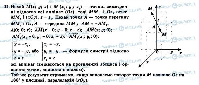 ГДЗ Геометрія 11 клас сторінка 32