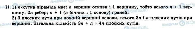 ГДЗ Геометрія 11 клас сторінка 21