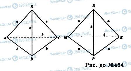 ГДЗ Геометрія 11 клас сторінка 464