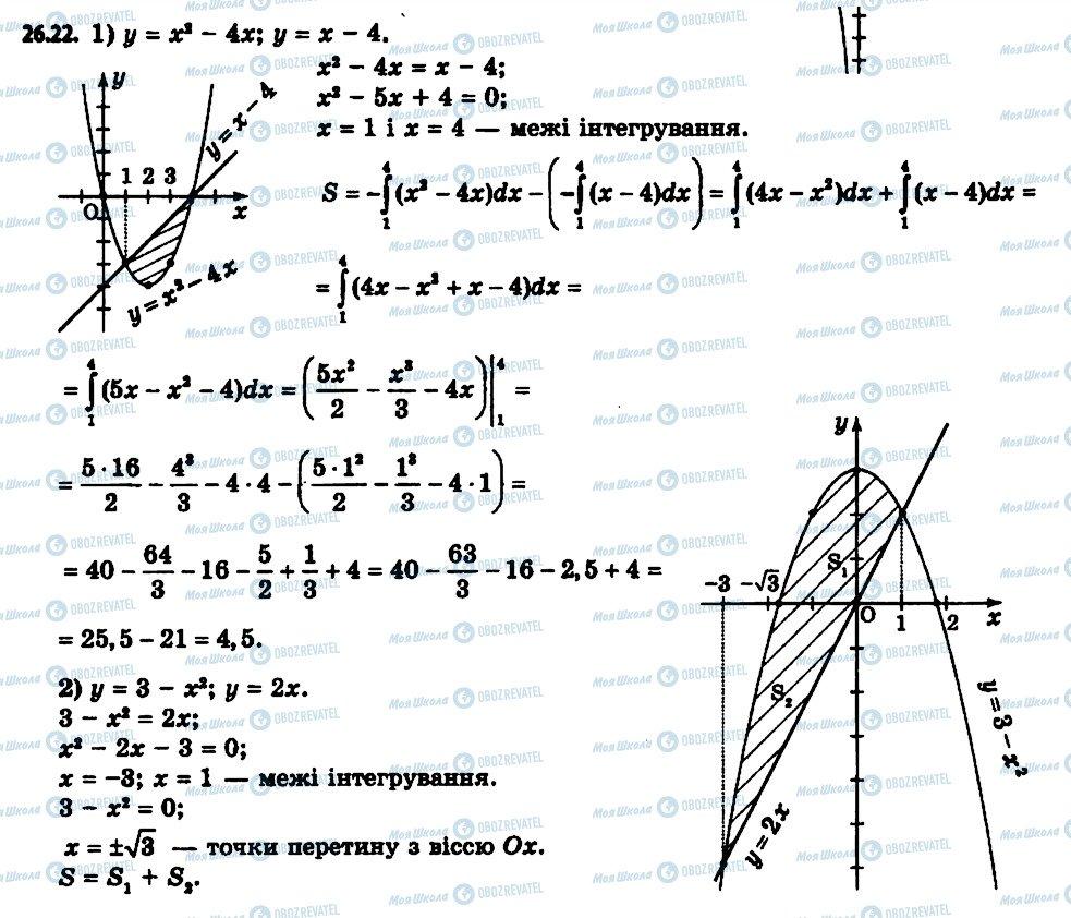 ГДЗ Алгебра 11 клас сторінка 22