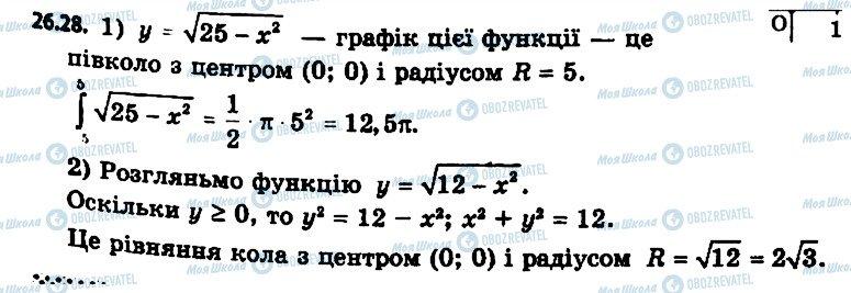 ГДЗ Алгебра 11 клас сторінка 28