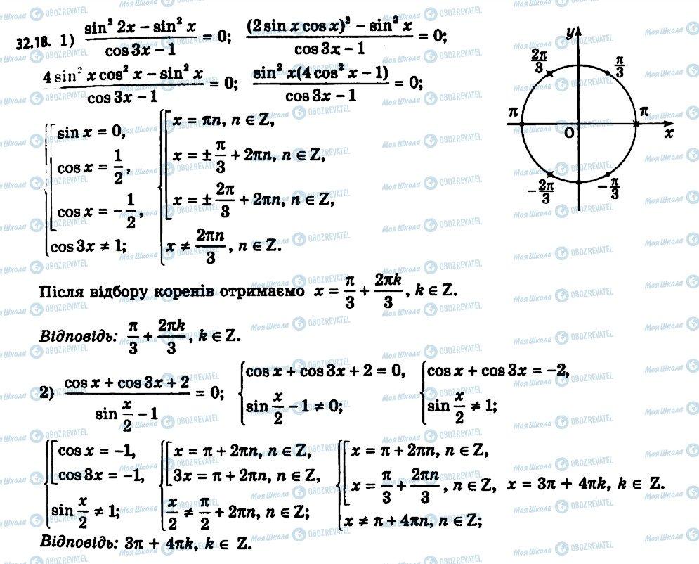 ГДЗ Алгебра 11 клас сторінка 18