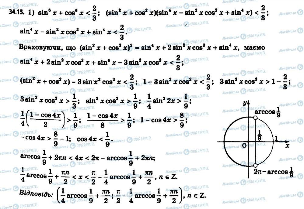 ГДЗ Алгебра 11 клас сторінка 15